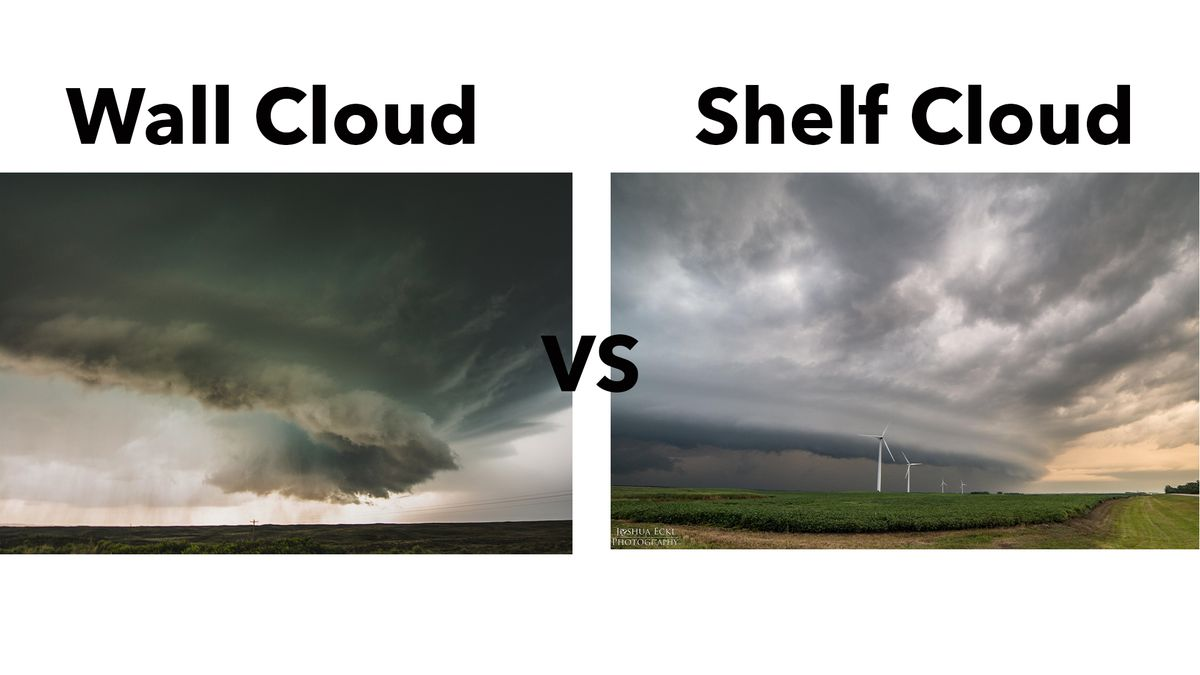Many times shelf clouds get reported as wall clouds. Today's weather blog looks at the...