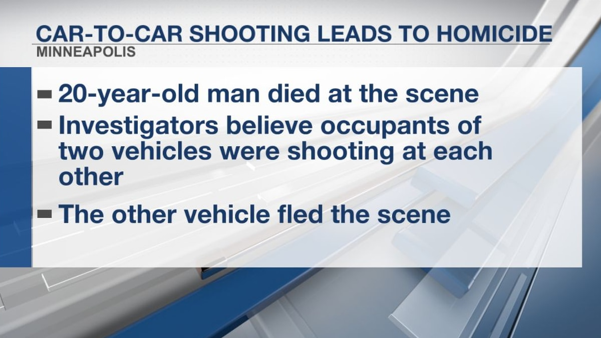 Car-to-car shooting leads to homicide in Minneapolis