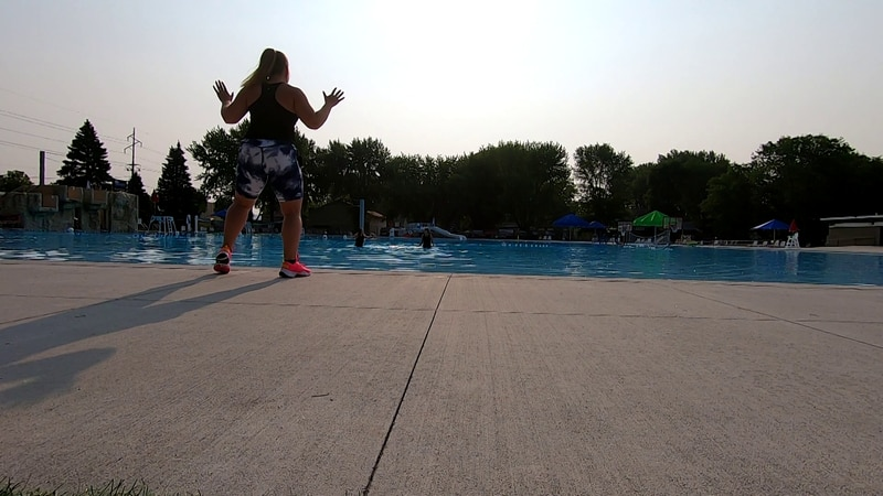 For this Wellness Wednesday, Kelsey and Lisa from KEYC News Now This Morning hop into the pool...