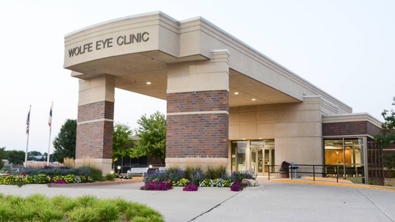 FILE — The entrance to Wolfe Eye Clinic is pictured in this undated file photo in West Des...